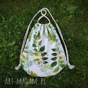plecak worek xl - ,plecak,worek,liście,las,len,