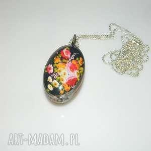 szklane kwiaty, szklany, unikatowa biżuteria, unikatowy wisior, wisior