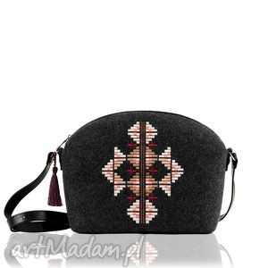 torebka filcowa ornament 330, ornament, haft, filc