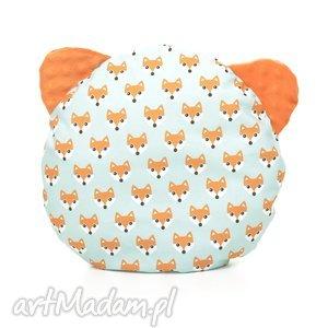 poduszka podusia miś liski pomarańczowy - przytulanka, minky