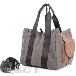 torba big duo normal - jasny brąz - wielofunkcyjna, stylowa, wygodna, kobieca