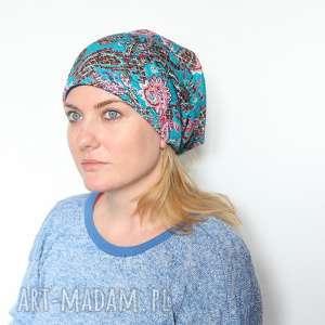 czapka damska w orientalne wzory, damska, etno, orientalna, wiosenna, mama, boho