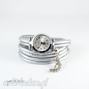 Prezent Zegarek, bransoletka - Srebrny Księżyc, zegarek, bransoletka, rzemienie