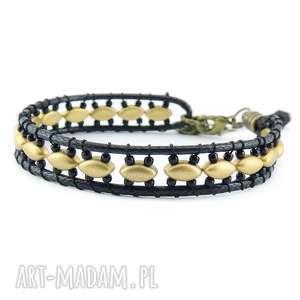 0825/mela bransoletka wrap bracelet pojedyncza, bransoletka, koraliki