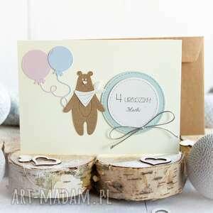 Zaproszenie na roczek, urodziny 1 szt mrufru zaproszenie