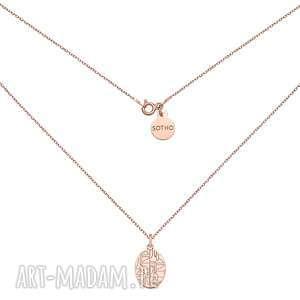 handmade naszyjniki medalion z różowego złota art n°1