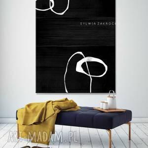 dekoracje artystyczna czern obrazy do salonu nowoczesnego, czarna dekoracja