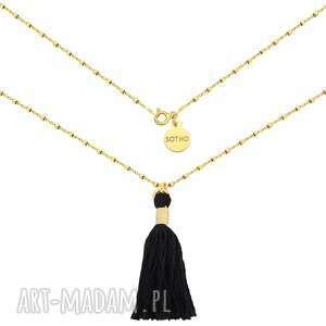 złoty naszyjnik zdobiony chwostem sotho - łańcuszek, zawieszka