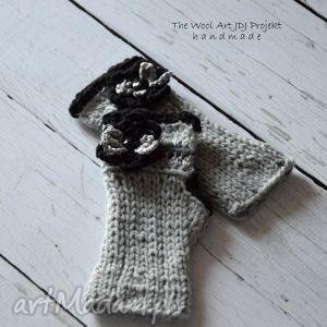 rękawiczki - zamÓwienie - rękawiczki, szare, ocieplacze