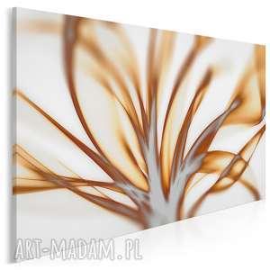 obraz na płótnie - nowoczesny beżowy kwiat 120x80 cm 92201