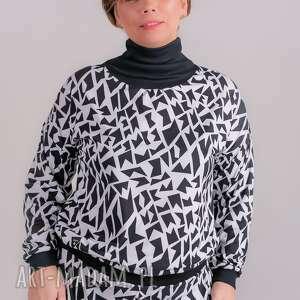 Golf white and black bluzki trzyforu bluzki, spodnie, sukienki