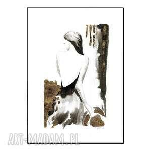 cykl kobiety i kapelusze - kapelusz ii, ręcznie malowane, grafika, oryginał