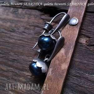 laskowe kolczyki z naturalnych pereł i srebra, perła, naturalna, rzeczna, hodowlana