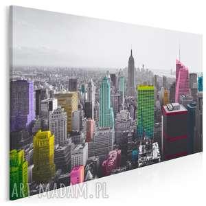 Obraz na płótnie - nowy jork wieżowce kolory 120x80 cm 10901