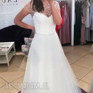 Suknia ślubna nowa, model z salonu- wyprzedaż kolekcji rozmiar 36, suknia-ślubna