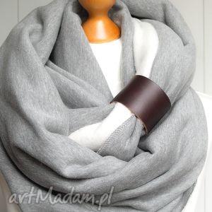 gruby zimowy komin dresowy z zapinką - pracownia zolla, tuba, pomysł na prezent