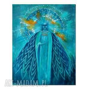 anioł auror, obraz ręcznie malowany