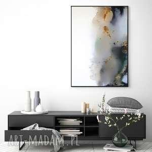 obraz - kałuża do salonu - na prezent - ręcznie malowany - abstrakcja, decore
