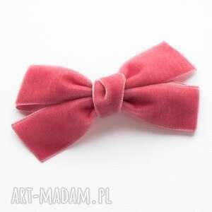spinka do włosów kokarda velvet bow victorian rose, spinka, kokarda, aksamitka