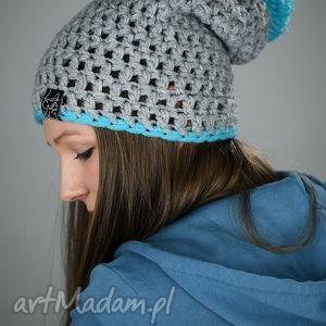 HelLove 31, czapka, czapa, zima, kolorowa, pompon, cieńka