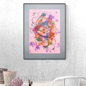 grafika ręcznie wykonana, design do loftu, oryginalna dekoracja na ścianę