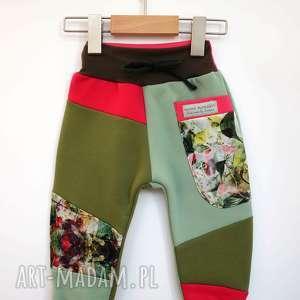 patch pants spodnie dziecięce szare 74 -104 cm, dresowe, bawełniane