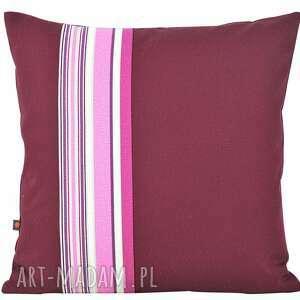 poduszki poduszka dekoracyjna 45x45cm - kolor ciemny bordo, poduszka, bawełna