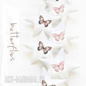 butterfly - girlanda motyle, girlanda, gwiazdki, motyl