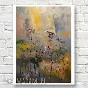 jesienne trawy - obraz akrylowy formatu 40/60cm, obraz, akryl, łąka