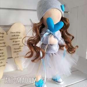 lalka kolekcjonerska szmacianka na chrzest święty, szmacianka, szmaciana, szyta