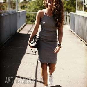 sukienki sukienka simple grey, casual, sukienka, bawełna, wygodne