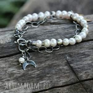 perły z lunulą ii, perła, perłowa biżuteria, biżuteria perłami