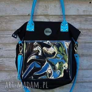 pracownia mana torba damska na ramię studencka w kolorze czarnym, torba-na-ramię