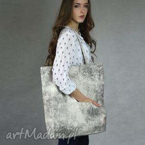 Duża prostokątna torba na ramię z zamszu ekologicznego, torba, torebka, tote, bag