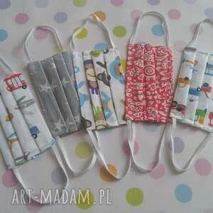 maseczki bawełniane dla dzieci pakiet 5 sztuk zestaw iv, maseczki, maski