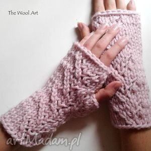 mitenki - rękawiczki, mitenki, róż, nadłonie, najesień, prezent