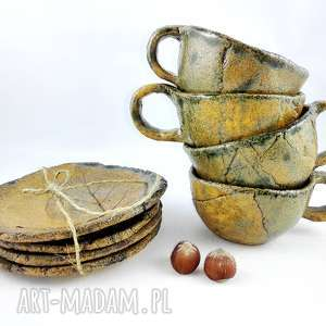 Prezent Filiżanki 4 szt, herbata, dekoracje, kawa, kuchnia,