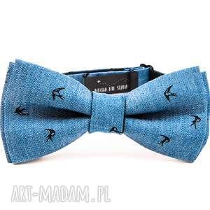 Prezent mucha JEANS-SWALLOW, moda, mucha, krawat, on, prezent, urodziny