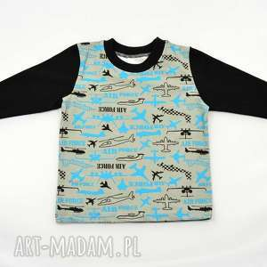 samoloty bluzka dla chłopca, bawełniana, rozmiary 68-122, samoloty