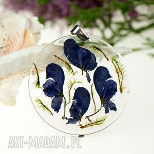 z71 naszyjnik z mchem - naszyjnik z kwiatów, biżuteria z kwiatów, na prezent