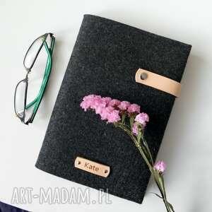 ręcznie robione notesy notes w filcowej okładce - personalizowany z imieniem