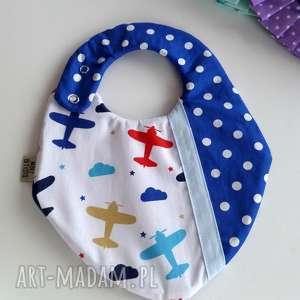 dla dziecka śliniak nieprzemakalny - samoloty, śliniak, śliniaczek, baby shower