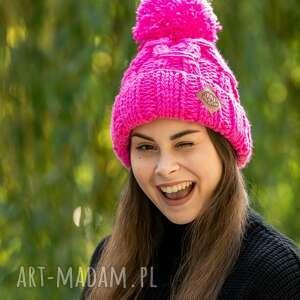 czapki euforia różowiutki, czapka, zimowa, wełniana, wełna, zima