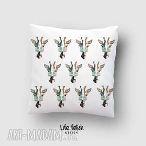 poduszka z żyrafami, poduszka, poszewka, żyrafa, zoo, grafika, dom