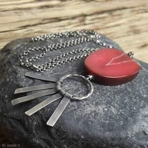 Prezent Naszyjnik srebrny z agatem, biżuteria-autorska, naszyjnik-agat, srebro-agat