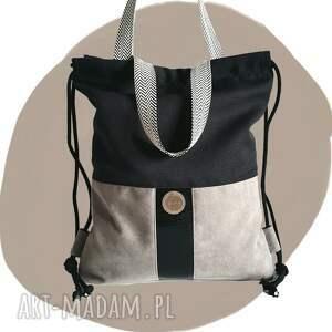 tasha handmade torboplecak 2w1 - nude mood, torba plecak, xxl