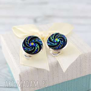 Klipsy Spiral - ,klipsy,lekkie,spiralki,na-imprezę,prezent,urodziny,