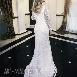 nowa suknia ślubna amalia koronka 3d model z salonu rozm 40 mega wyprzedaŻ, ślub