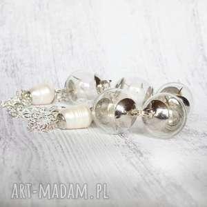 galavena naszyjnik - dmuchawce i perły - perełki, długi