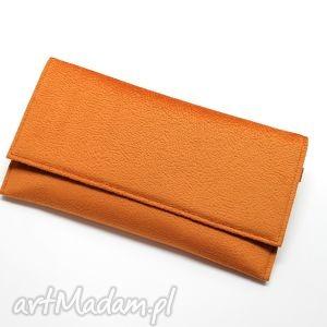 Kopertówka - pomarańczowa, elegancka, nowoczesna, wizytowa, wieczorowa, wesele